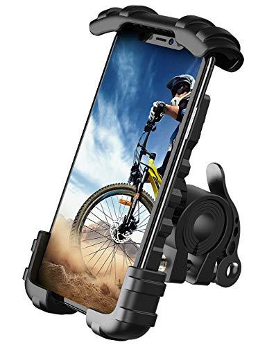 Lamicall Supporto Telefono Bicicletta, Metallico Supporto Motociclo - Universale Manubrio Supporto Cellulare per iPhone 12, 11 Pro, Xs Max, X, 8, 7, 6S, Samsung S10 S9 S8, 4.7-6.8 Pollici Smartphones