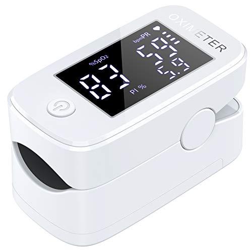 IDOIT 3 in 1 Saturimetro Professionale Pulsossimetro da dito con Letture Immediate Ossimetro per Saturazione di Ossigeno(SpO2), Frequenza Del Polso(PR) e Indice di Perfusione(PI)