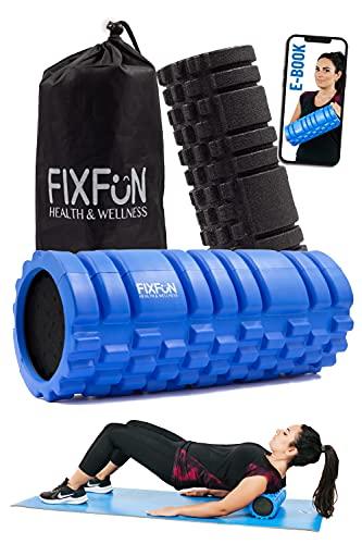 FIXFUN Foam Roller per Massaggio Muscolare - Doppio Rullo Massaggiante x Trigger Point, Borsa, Ebook…