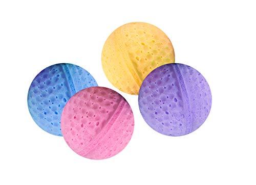 Karlie - Set di 4 palline di spugna, 4 cm, colori assortiti