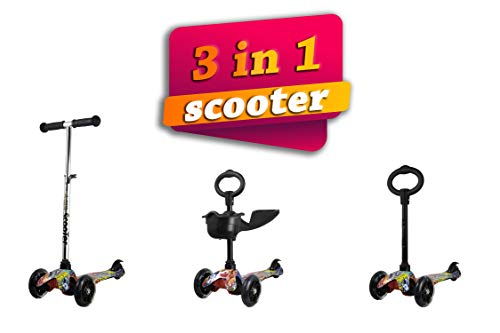 Kenrod Monopattino 3 Ruote per Bambini dai 3 ai 10 con il Design Scooter Ruote Di Led Sensa Batteria Facile da Smontare
