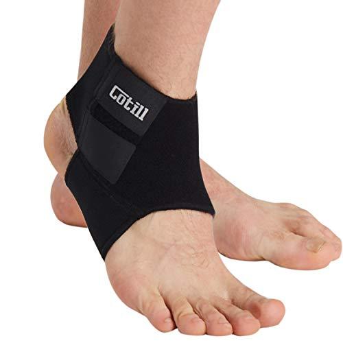 Cotill Supporto caviglia per uomini e donne – Tutore contro distorsioni in neoprene traspirante e regolabile per la corsa, palla canestro (taglia unica)