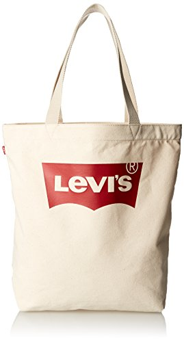 Levi's LEVIS FOOTWEAR AND ACCESSORIES Batwing Tote W - Donna, Beige (Écru)