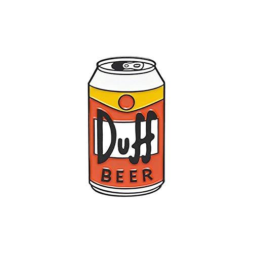 Birra può smalto Pin personalizzato Duff birra spilla borsa vestiti spilla desiderio che tu fossi birra distintivo TV gioielli regalo per i fan amici, Style2