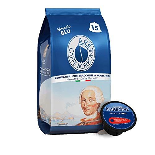 Caffè Borbone Miscela Blu - 90 capsule (6 confezioni da 15) - Compatibili con le Macchine Nescafè* Dolce Gusto*