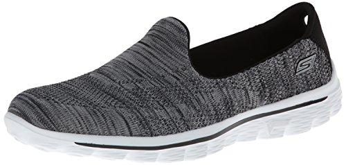Skechers - Go Walk 2Hypo, Sneakers da Donna, Nero (BKW), 39