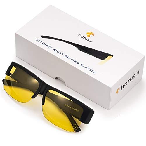 Occhiali / Sovraocchiali per Guida Notturna per Uomo e Donna - Lenti Antiriflesso - Occhiali Anti Abbagliamento - Sicurezza alla guida - Affaticamento degli occhi