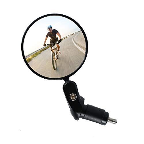 Specchietto Retrovisore Bicicletta Specchietti Convesso Regolabile Girevole a 360° per Mountain Road Bike,Bici da Corsa