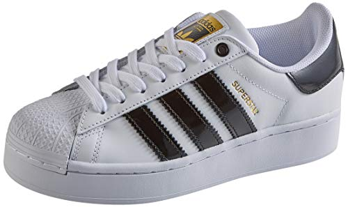 adidas Superstar Bold W, Scarpe da Ginnastica Donna, Ftwr White/Core Black/Gold Met, 38 EU
