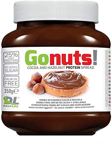 Daily Life Gonuts - Crema Spalmabile - Con il 21.9% di Proteine del Siero Del Latte Senza Olio di Palma e Zuccheri Aggiunti - 350 gr (Cioccolata)