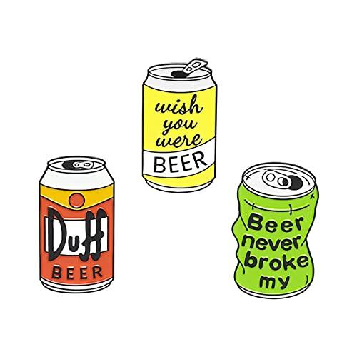 Spilla da birra smaltata personalizzata Duff Birra Spilla per abiti da bavero Wish You Were Beer Badge Tv Gioielli Regalo Per Fans Friends