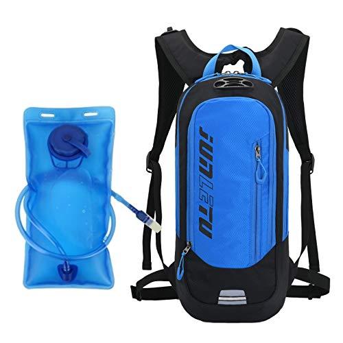 YL-gongsi Zaino Idratazione con Vescica 2L,Donna Uomo Zaino per Corsa MTB Ciclismo Maratona Trekking Trail Leggero Idrico Hydration Pack,Zaino bici impermeabile e antigraffio (blu)