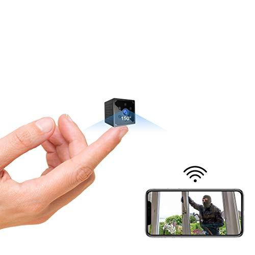 Telecamera Spia, 1080P HD Telecamera Nascosta Wifi Senza Fili Microcamera per Casa Lunga Durata Batteria Mini Videocamera Sorveglianza Interno con Visione Notturna Rilevamento di Movimento
