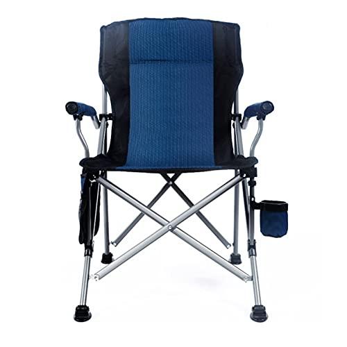 Sedie da Campeggio Pieghevoli Supporto Resistente 150 kg,Sedia Pesca,Sedie Pieghevoli da Campeggio,con supporto per bracciolo e borsa per il trasporto portatile,Blu