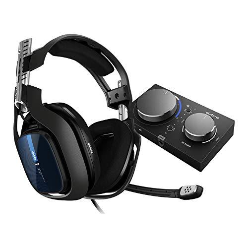 ASTRO Gaming A40 TR Cuffie Gaming Cablate + MixAmp Pro TR, 4 Gen, ASTRO Audio V2, Dolby Audio, Microfono intercambiabile, Controllo Equilibrio Gioco/Voce per PS5, PS4, PC, Mac, Nero/Blu