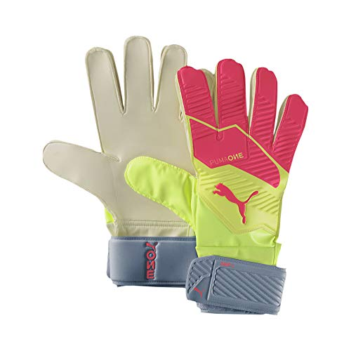Puma One Grip 4 Rc, Guanti Portiere Unisex-Adult, Multicolore (Nrgy Peach-Fizzy Yellow White), 6