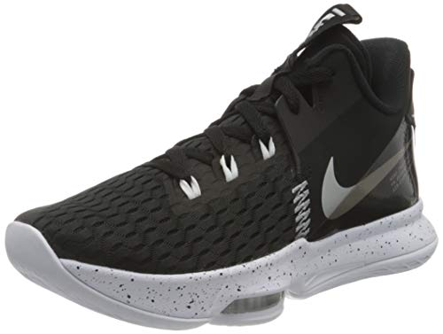 Nike Lebron Witness 5, Scarpe da Basket Unisex-Adulto, Summit White/University Gold-White-Wheat, 45 EU