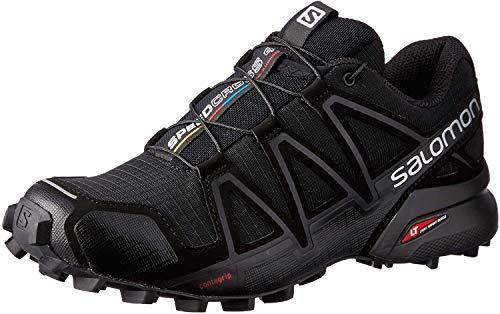 Salomon Speedcross 4 Donna Scarpe da trail running, Nero (Black/Black/Black Metallic), 38 EU