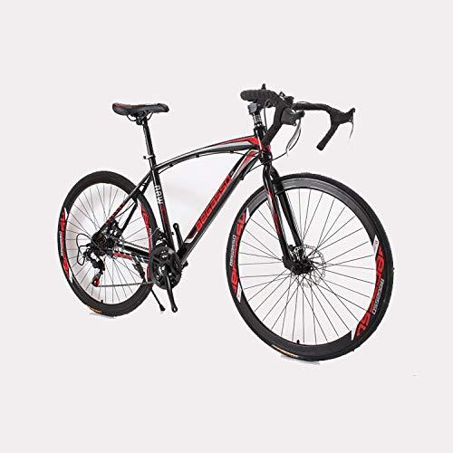 Bicicletta ibrida Freno a disco Manico curvo MTB Bici da strada per adulti 700C Speed Bike Off Road Racing 24 Velocità Bici da corsa Bicicletta da uomo e donna con doppio freno a disco