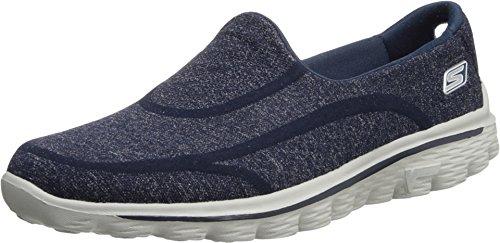 Skechers - Go Walk 2Super Sock, Scarpe da Donna, Blu(Blau (NVGY)), 41