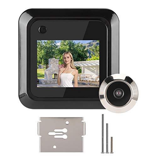 Fockety Telecamera spioncino per Porta, spioncino grandangolare 145 °, spioncino Digitale a Batteria HD da 2,4 Pollici per Appartamento di casa