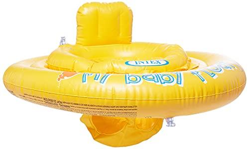 Intex- Baby Float Salvagente, Colore Giallo, 70x70x10 cm, 56585
