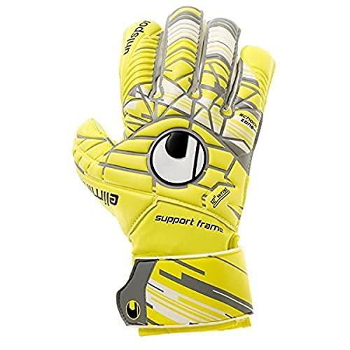 uhlsport Uhlsporteliminatorsoft - Guanti da Portiere - Lite Fluo Yellow/Griffin Grey/White