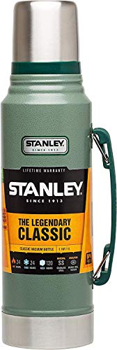 Stanley The Legendary Classic Vacuum Bottle - Bottiglia in acciaio inossidabile, 1L, Verde (Hammertone Green)
