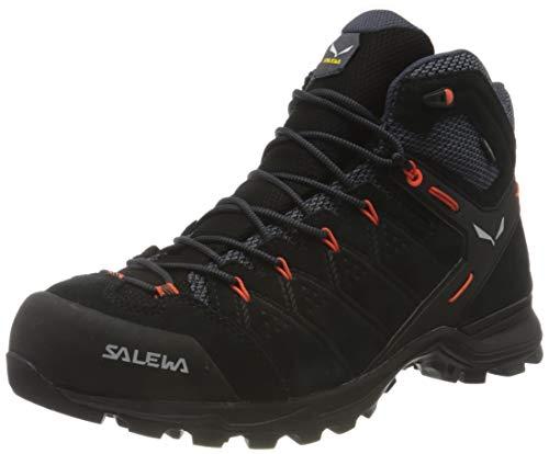 Salewa MS Alp Mate Mid WP Scarponi da trekking e da escursionismo, Black Out/Fluo Orange, 42.5 EU