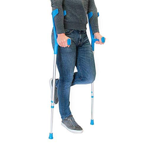 PEPE - Stampelle (2 unità), Stampelle Ortopediche Regolabili, Stampelle Canadesi, Stampelle Ortopediche, Stampella Ortopedica Regolabile, Stampelle antiscivolo, Colore Blu.