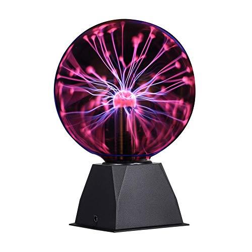 Lampada a sfera al plasma, luce al plasma magica da 6 pollici, Touch Sensitive Lampada al Plasma per Decorazione Creativa e Regalo della novità, 220 V, luce rosso