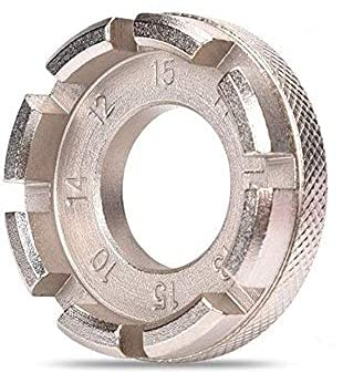 Terryshop74 Tira Raggi,6 in 1 Chiave a Raggi per Ruota della Bicicletta,Tiraraggi Universale per Regolare i Cerchi di Biciclette 10-15