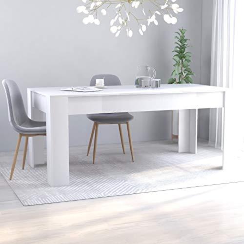 SKM Tavolo da Pranzo da Sala 160x80x76 cm/180x90x76 cm in Truciolato Minimalismo (Bianco, 180x90x76 cm)