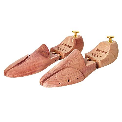 Lumaland allarga scarpe con doppia molla in legno di cedro Tendiscarpe Unisex misura 44/45