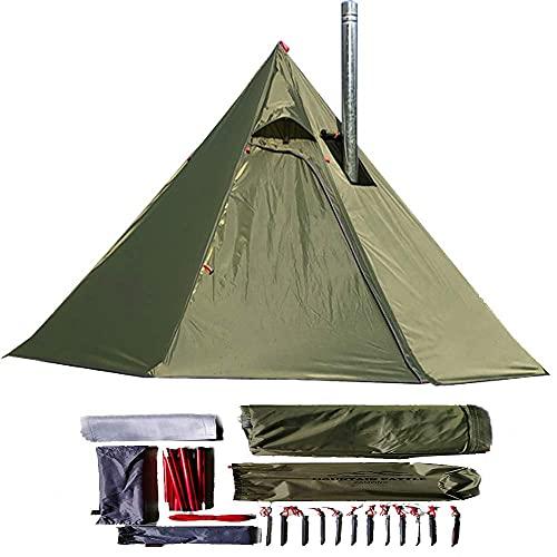Longeek tende da campeggio 2 posti 4 stagioni leggera per zaino in spalla all'aperto Campeggio Escursionismo Rifugio riscaldato capanna Camino caldo Facile da installare