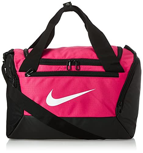 Nike NK BRSLA XS Duff-9.0 (25L), Bagaglio-Borsa a Tracolla Unisex-Adulto, Rosa Rush/Nero/Bianco, MISC