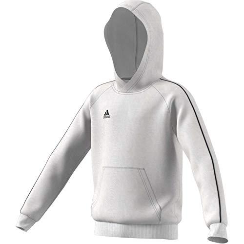 Adidas Core 18, Felpa con Cappuccio, XL, Bianco