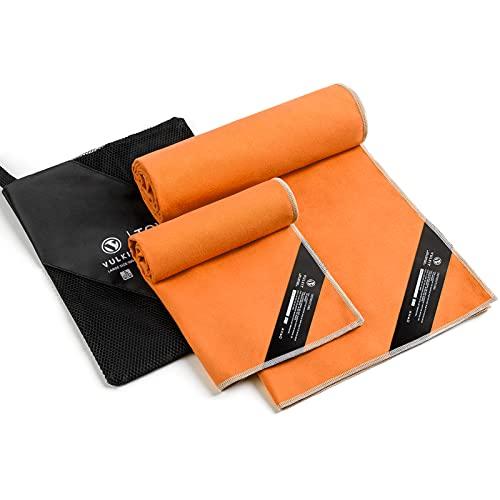 VULKIT Asciugamano in microfibra 2 pezzi Asciugamano rinfrescante in microfibra Asciugatura rapida Leggero Asciugatura rapida per il campeggio Corsa Corsa Palestra Yoga Sport