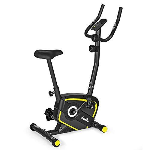 Diadora Fitness Lilly Evo, Cyclette Magnetica, Fino a 110 kg di Peso Unisex Adulto, Nero/Giallo