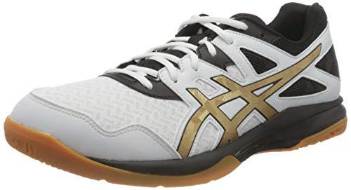 ASICS Gel-Task, Scarpe da pallavolo Uomo, Bianco (White/Pure Gold), 44 EU