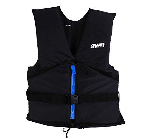 AWN Black Edition Giacca Regata Gilet Aiuto Galleggiamento Kayak SUP Tavola Vela (40-70 kg)