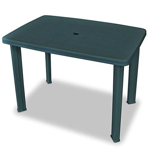 Ipae-Progarden S.P.A. 78008 Tavolo Rettangolare 101 x 68 x 72 cm Faretto Verde, Resina