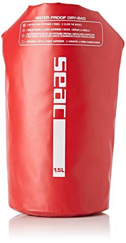 SEAC Dry Bag, Sacca Stagna Impermeabile per Subacquea e Nautica Unisex Adulto, Rosso, 1.5 L