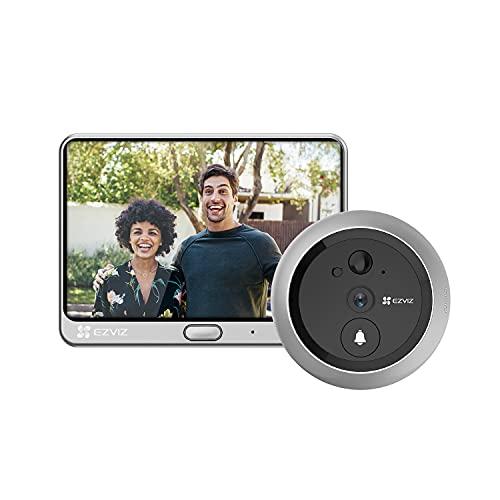 Ezviz DP1C Spioncino con videocitofono integrato per porte con Wi-Fi e display 4.3', video HD 720p, funzione giorno/notte, sensore PIR incorporato