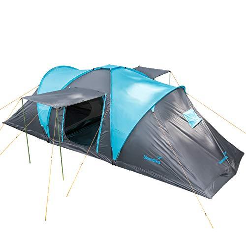 Skandika Hammerfest 6 persone - Tenda de campeggio familiare - zanzariera - 2x cabine da letto (con pavimento cucito)