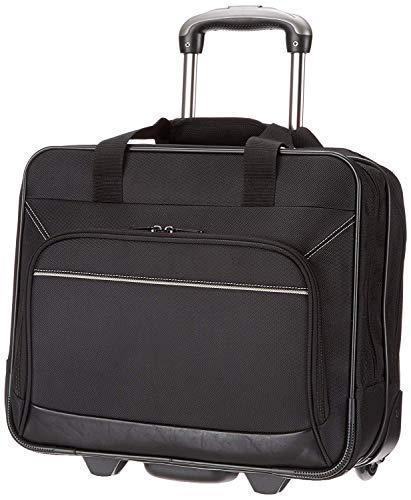 Amazon Basics - borsa per laptop, con rotelle fluide e tasca frontale facile da aprire, per laptop fino a 16�