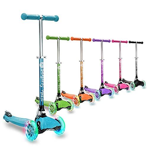 3StyleScooters RGS-1 Monopattino per Bambini a 3 Ruote - Perfetto dai 3 Anni in su, Ruote Lampeggianti LED, Design Pieghevole e Leggero, Manubrio Regolabile (Blu)