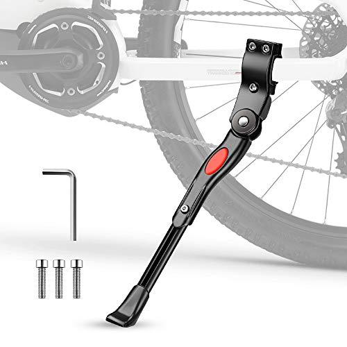 Cavalletto Bici, phixilin Cavalletto Bicicletta per 24�-29� Regolabile Alluminio Lega Cavalletto Laterale Il Piedino di Gomma Antiscivolo Bike Stand per Mountain Bike, Bici da Strada, MTB Bici
