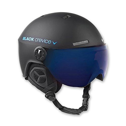 BLACK CREVICE Casco da sci Gstaad I Casco da sci con visiera stile pilota in diversi colori I Casco da sci per Uomo & Donna I Casco da sci in policarbonato I Casco traspirante I Regolabile