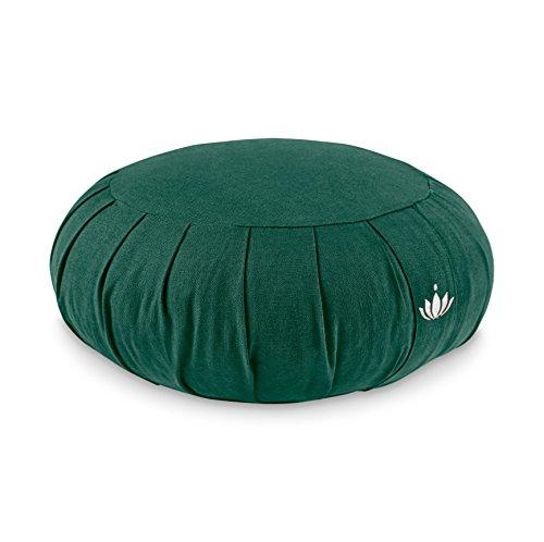 Lotuscrafts Cuscino Meditazione Zafu Zen - Altezza 15 cm - Rivestimento in Cotone Lavabile - Ripieno di farro - Cuscino Yoga Meditazione - Cuscino Zafu - Meditation Cushion - Certificato GOTS